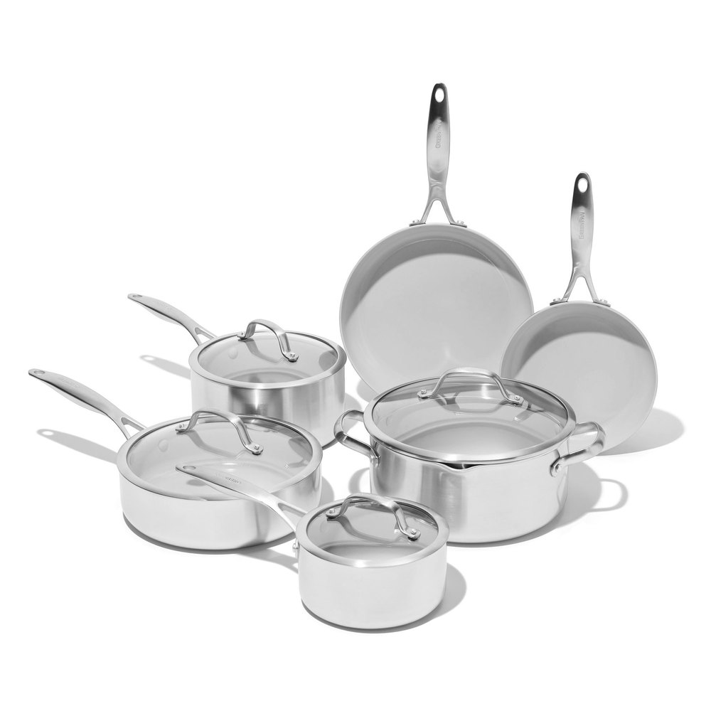 Venice Pro Ceramic Non-Stick Cookware, 10-Piece Set